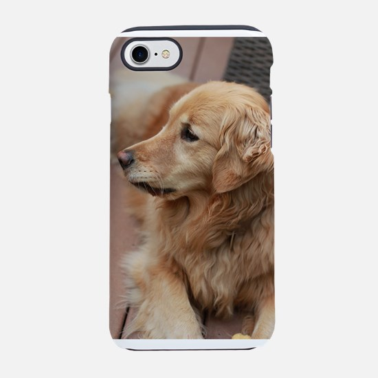 golden retriever serious iPhone 8/7 Tough Case