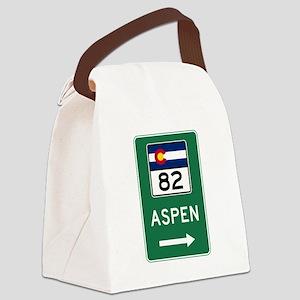 Aspen, Colorado Canvas Lunch Bag