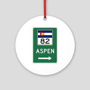 Aspen, Colorado Round Ornament
