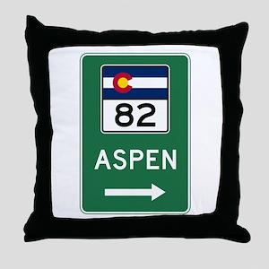 Aspen, Colorado Throw Pillow