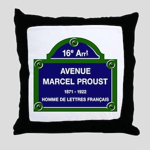 Avenue Marcel Proust, Paris, France Throw Pillow