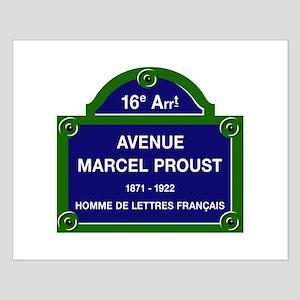 Avenue Marcel Proust, Paris, France Small Poster