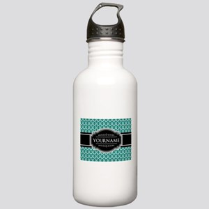 Teal and Black Horsesh Stainless Water Bottle 1.0L