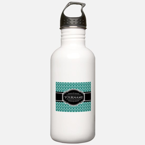 Teal and Black Horsesh Water Bottle