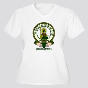 Gallagher Clan Motto Women's Plus Size V-Neck T-Sh