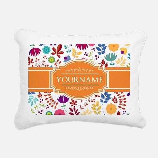 Personalized Name Monogr Rectangular Canvas Pillow
