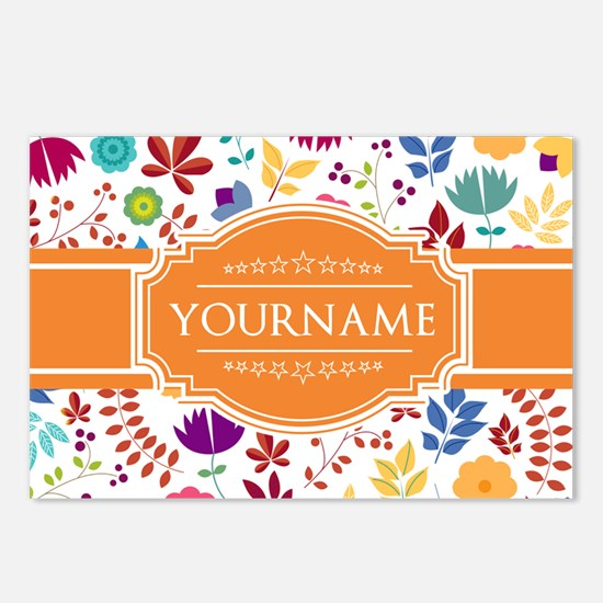 Personalized Name Monogra Postcards (Package of 8)