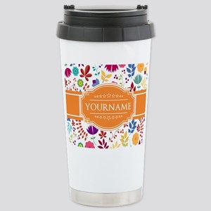 Personalized Name Monog Stainless Steel Travel Mug