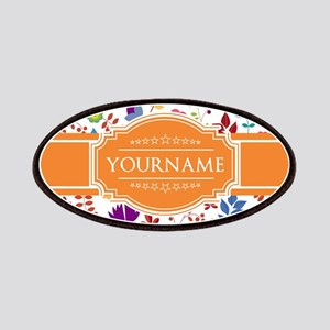 Personalized Name Monogram Floral Patch