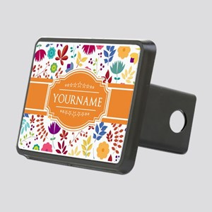 Personalized Name Monogram Rectangular Hitch Cover