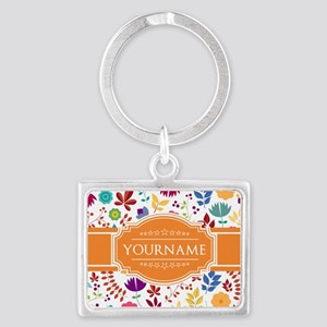 Personalized Name Monogram Flor Landscape Keychain
