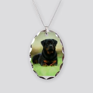 Rottweiler Necklace Oval Charm