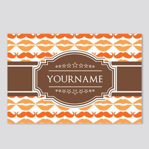 Personalized Name Mustach Postcards (Package of 8)