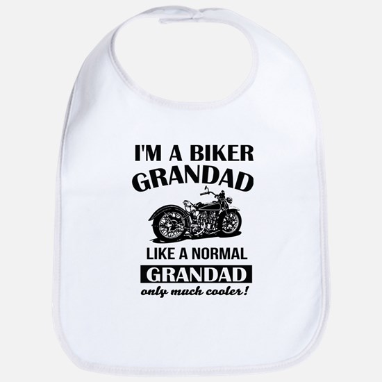 I AM A BIKER GRANDAD Bib