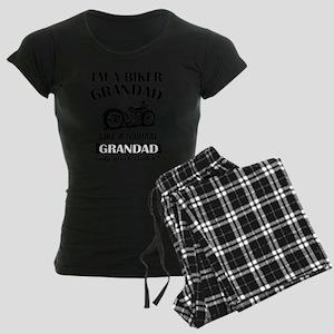 I AM A BIKER GRANDAD Women's Dark Pajamas
