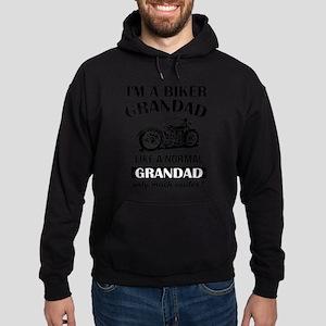 I AM A BIKER GRANDAD Hoodie (dark)