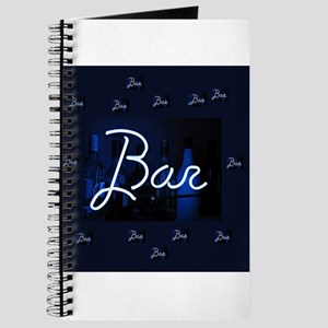 bar sign neon blue party sign Journal