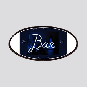 bar sign neon blue party sign Patch