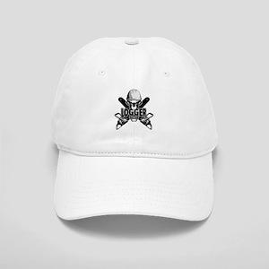 Logger Skull: Crossed Chainsaws Baseball Cap