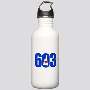 603 NEW HAMPSHIRE LOVE Water Bottle