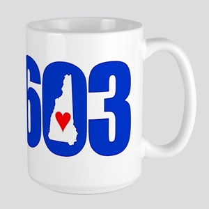 603 NEW HAMPSHIRE LOVE Mugs