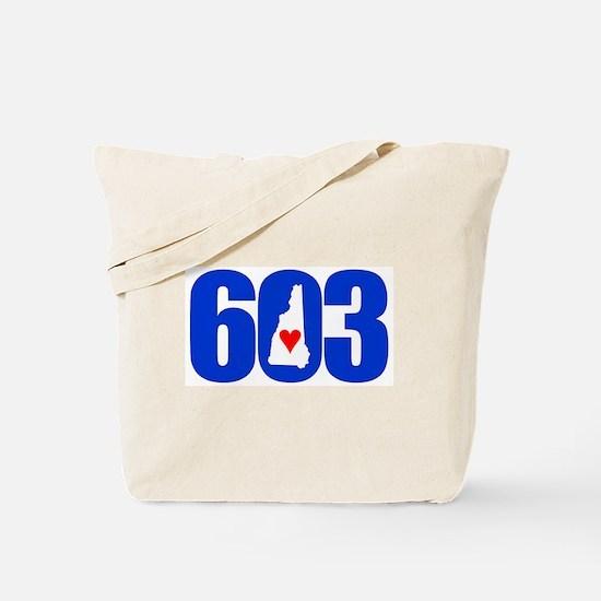 603 NEW HAMPSHIRE LOVE Tote Bag