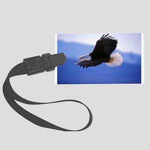 Bald Eagle flying Large Luggage Tag
