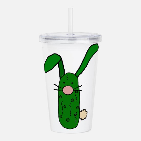Funny Pickle Bunny Rab Acrylic Double-wall Tumbler