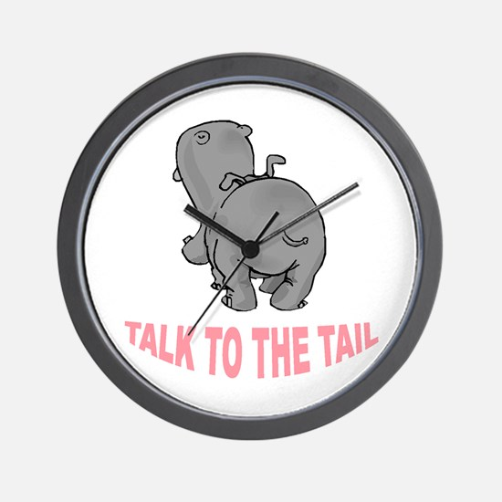Hippo Talk To The Tail Wall Clock