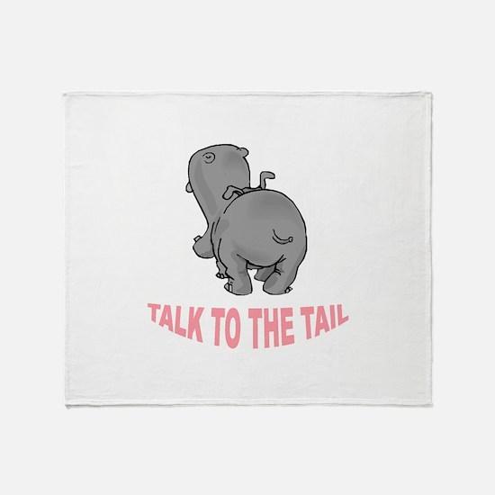 Hippo Talk To The Tail Throw Blanket
