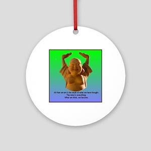 Laughing Buddha Ornament (Round)