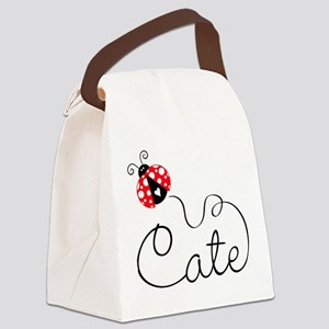 Ladybug Cate Canvas Lunch Bag
