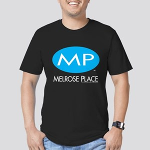 Melrose Place Logo Men's Fitted T-Shirt (dark)
