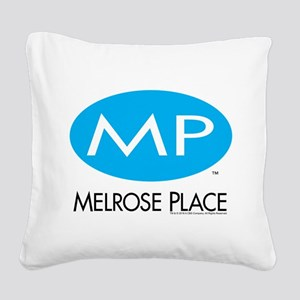Melrose Place Logo Square Canvas Pillow