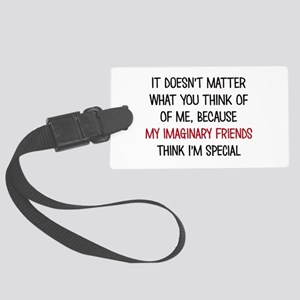 My Imaginary Friends Luggage Tag