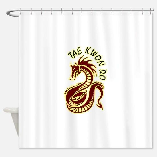 taekwondodragon.png Shower Curtain