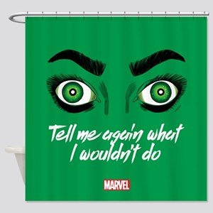 She-Hulk Tell Me Again Square Shower Curtain