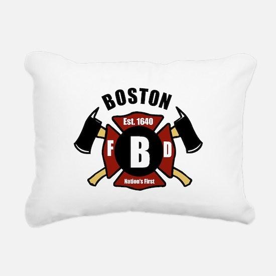 Boston Fire Department - Shield Rectangular Canvas
