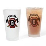 Boston fire department logo Drinking Glass