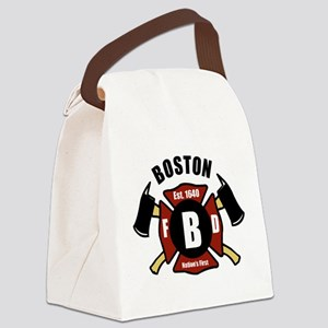 Boston Fire Department - Shield Canvas Lunch Bag