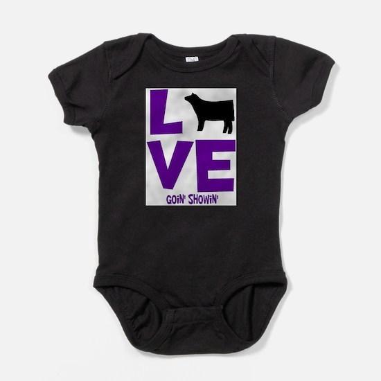 Cute Steer Baby Bodysuit