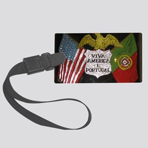 Portugese American Large Luggage Tag