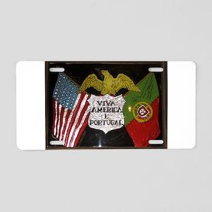 Portugese American Aluminum License Plate