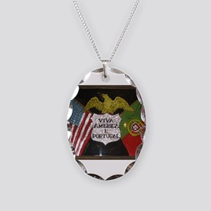 Portugese American Necklace Oval Charm