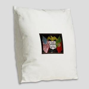 Portugese American Burlap Throw Pillow