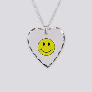 Smiley Face Necklace Heart Charm