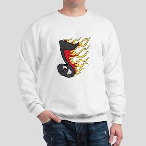 Fiery Music Note Sweatshirt