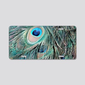 Peafowl Feathers With Big Eyes Aluminum License Pl