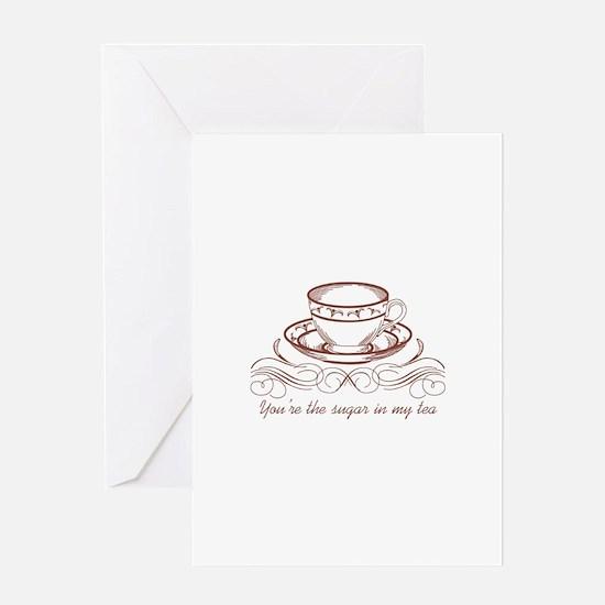 Sugar In Tea Greeting Cards