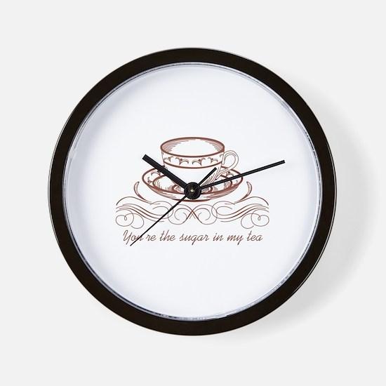 Sugar In Tea Wall Clock